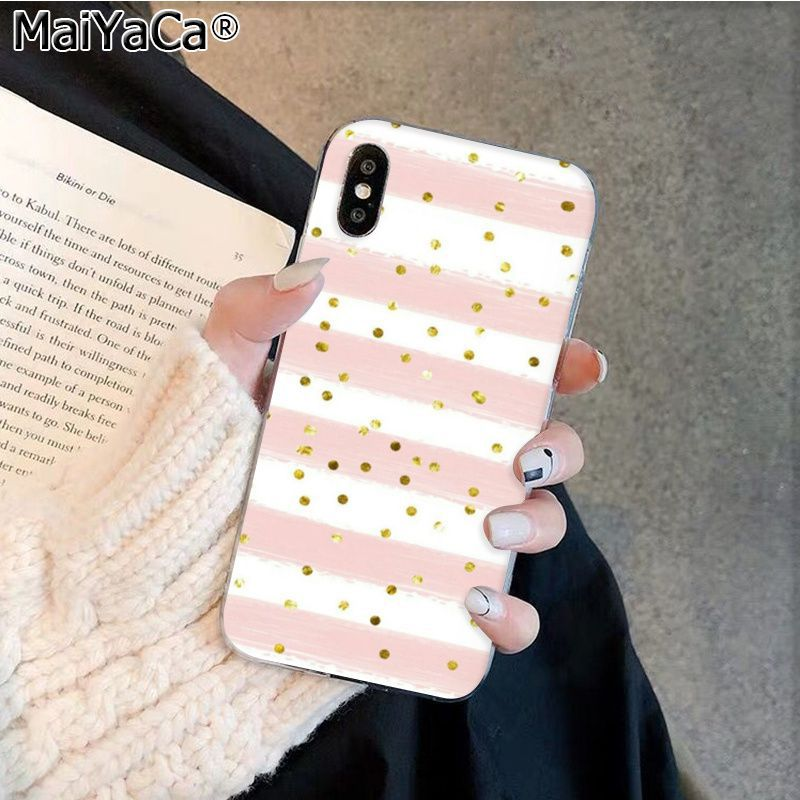 Cartoon Nette Rosa Welle Dot Kreis Grafik Telefon Fall Für Apple Iphone 11 Pro 8 7 66S Plus X XS MAX 5S SE XR Handys image