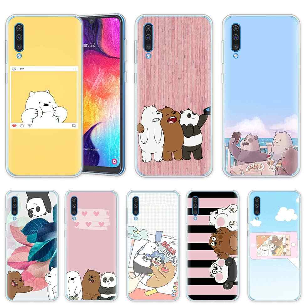 We Ice Bare Bears Case for Samsung Galaxy A50 A20e A80 A70 A60 A40 A30 A10 M40 M30 M20 M10 A6 A8 Plus 2018 TPU Phone Cover Casos