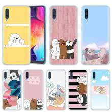 We Ice Bare Bears Case for Samsung Galaxy A50 A20e A80 A70 A60 A40 A30 A10 M40 M30 M20 M10 A6 A8 Plus 2018 TPU Phone Cover Casos(China)