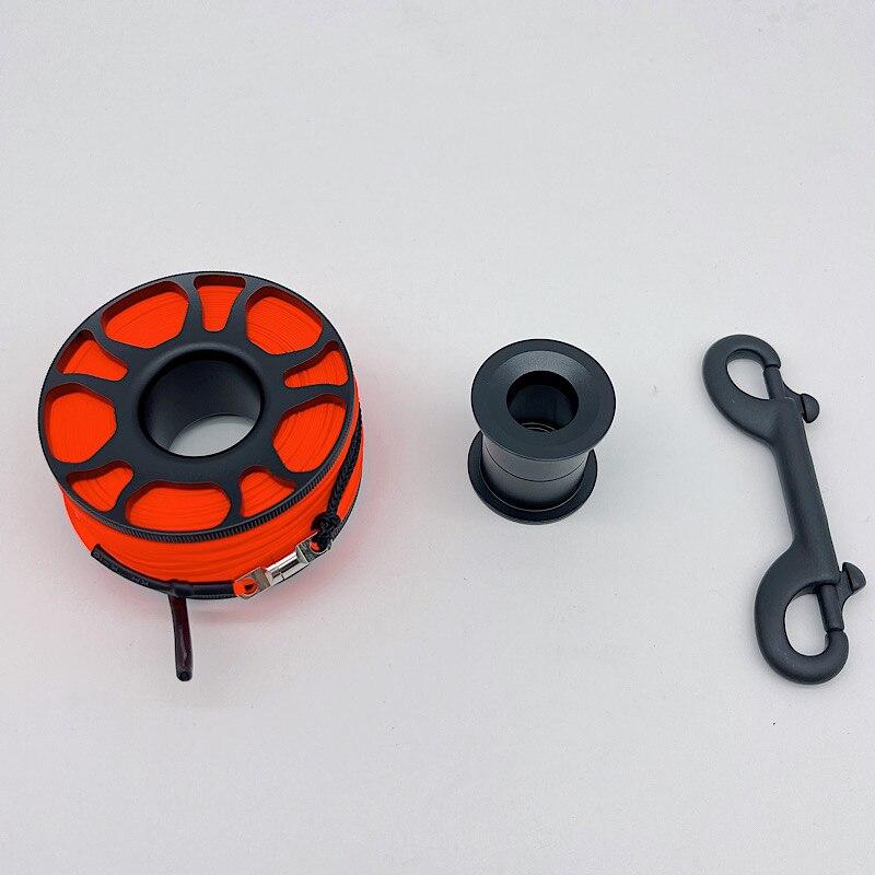 Алюминиевая катушка для подводного плавания TSMC 30 м, зажим болта из нержавеющей стали, белый, оранжевый, красный, флуоресцентный желтый