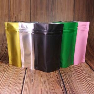 Image 2 - Plastic Bag  Metallic Mylar ziplock bag  stand valve bag resealable aluminum foil custom print ziplock bag