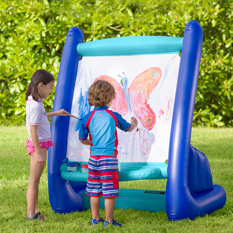 Inflatable Stand Painting Easel Sketchpad Drawing Tools Indoor Outdoor Kids Puzzle Toys Home Use Portable Repeatable Washing