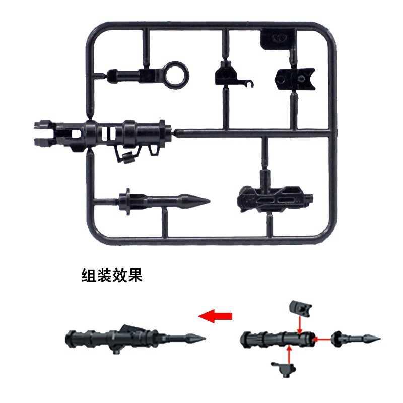 طراز قطعة سلاح لعشاء الدجاج العسكري من Legoing إكسيسوارات يمكنك صنعها بنفسك طراز MPJ146 بندقية أسلحة Ww2 ألعاب للأطفال شخصيات Legoings