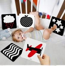 Montessori bebê brinquedos preto branco cartões de flash alto contraste estimulação visual aprendizagem educacional flashcard criança brinquedo sensorial