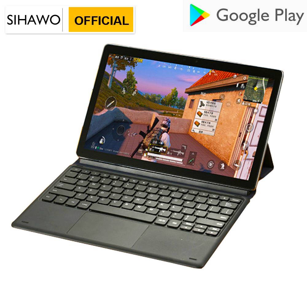 SIHAWO 8GB ROM 64G ROM 11.6inch <font><b>Android</b></font> 8.0 <font><b>Tablet</b></font> <font><b>Pc</b></font> Helio X27 Deca Core 4G LTE Phone Call GPS Touchpad keyboard 2 in 1 <font><b>Tablets</b></font> image