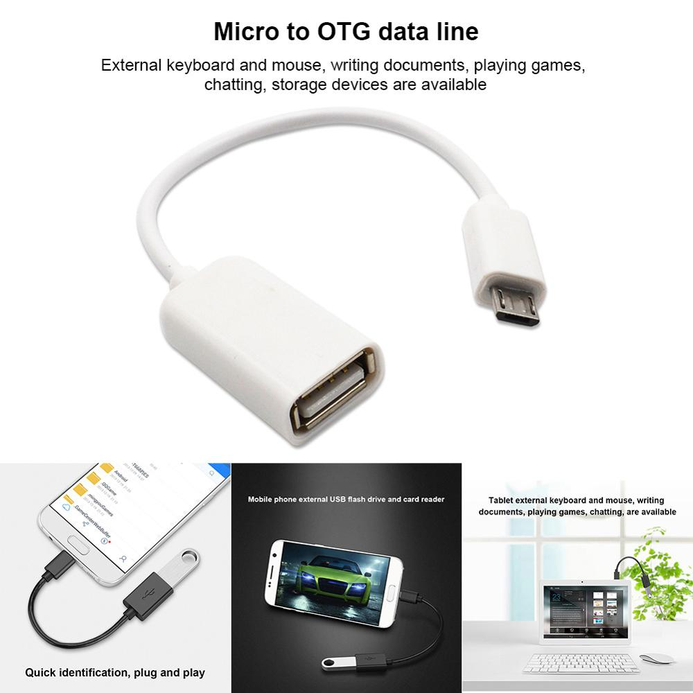 Micro USB OTG Cable Data Transfer Micro USB Male To Female Adapter For Samsung HTC Android HJ55