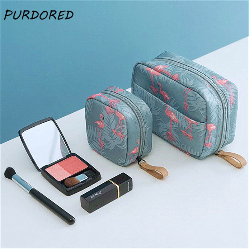 PURDORED 1 pc Mini Women Cosmetic Bag Solid Make Up Bag Waterproof Travel Toiletry Storage Bag Makeup Case Pouch Dropshipping(China)