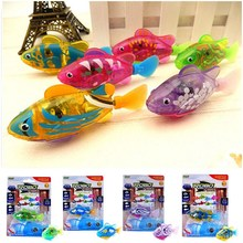 Bathtub Fishing-Tank-Decoration Robotic Fish Swimming Fish-Bath-Toys Electric Kids Children