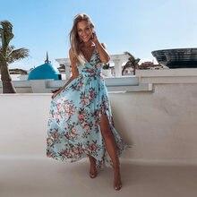 Женское пляжное платье макси в стиле бохо летнее богемное с
