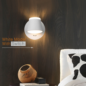 Image 2 - 360 조정 가능한 LED 벽 램프 머리맡 조명 통로 벽 마운트 Luminaire Sconce 현대 호텔 벽 조명