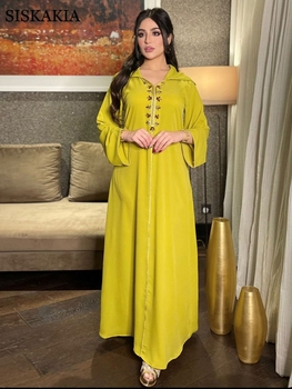 Moroccan Caftan Ramadan Eid Mubarak Satin Abaya Dress For Women Muslim Arabic Dubai Hooded Jalabiya Moroccan Kaftan Diamond Ribbon 1