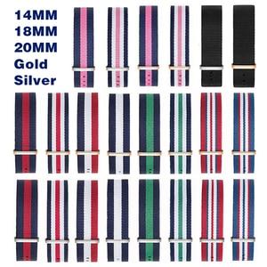14 мм 18 мм 20 мм NATO армейский спортивный бренд нейлоновая ткань ремень аксессуары ремень ремешки с пряжками 007, Джеймс Бонд. Черный ремешок для ...