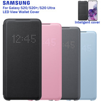 Original Samsung LED Wallet Cover Phone Protection Case For Galaxy S20 Plus S20+ S20 Ultra Sleep Function Card Pocket Cover