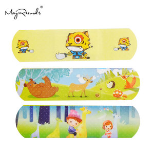 100PCS Cartoon Band Aid Cute Water Resistant Breathable Bandages First Aid for Kids Children Emergency Kit
