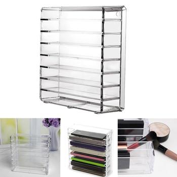 Organizador de maquillaje acrílico de primera calidad caja de almacenamiento de cosméticos de 8 espacios para mujeres, lápiz labial en polvo, sombra de ojos, soporte de exhibición