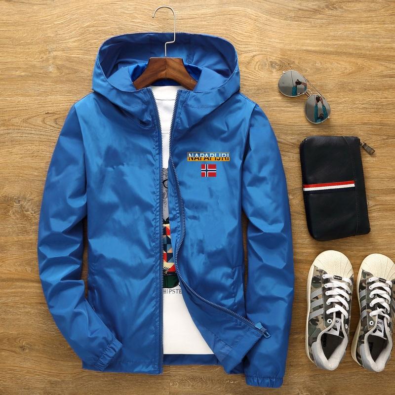 Men's Street Waterproof Jacket Parker Aviator Hooded Windbreaker Thin Zipper Casual Spring Autumn 2021 5