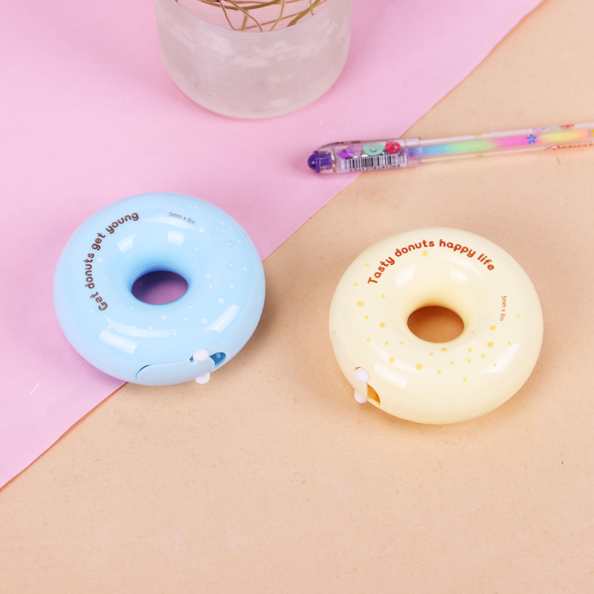 Cute Students 8M Donuts Shape Correction Tapes Material Escolar Kawaii Stationery Office School Supplies Papelaria 1PC