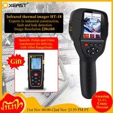 HT 18 דיגיטלי תרמית Imager גלאי כף יד תרמית מצלמה IR אינפרא אדום טמפרטורת מדחום תכליתי ברזולוציה גבוהה