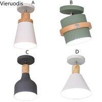 Nordic luzes de teto para o corredor ajustável metal lâmpada do teto para casa luzes do corredor quarto e27 madeira interior luminárias