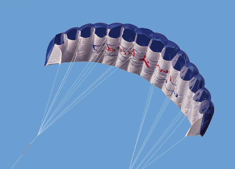 Pipa Voando Brinquedos ao ar livre Esportes de Praia Linha Dupla Conluio Parafoil Kite 1.4m Poder Kite Soft com Alça 30m linha fácil de Voar