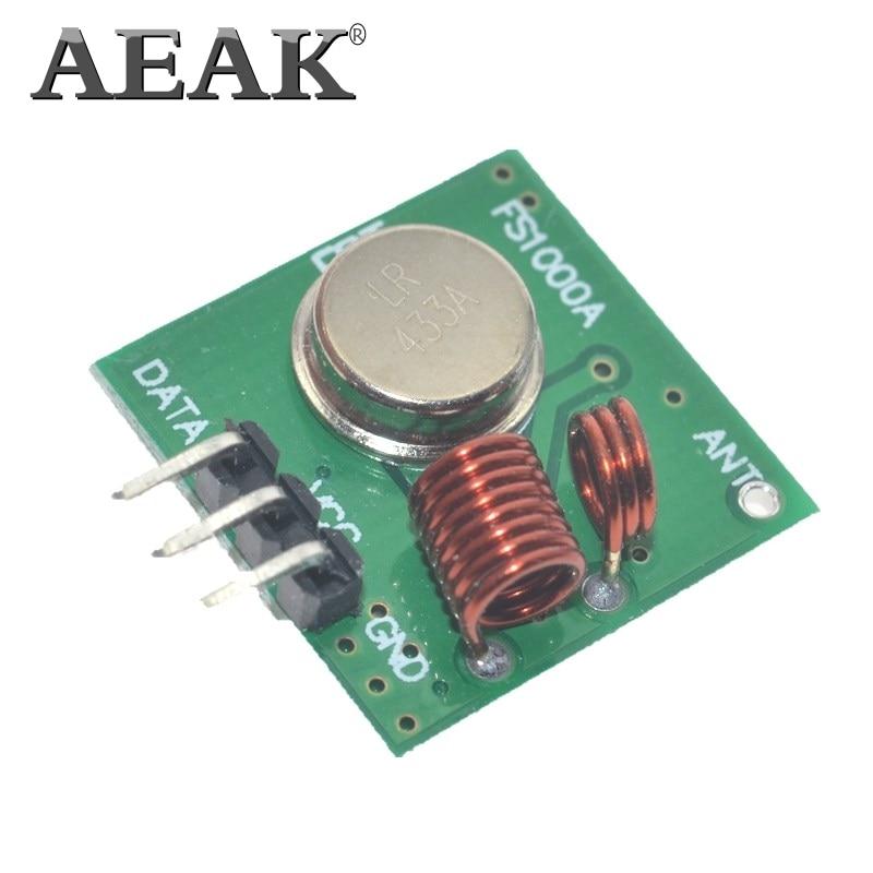 1 Lot= 50pair=100pcs RF wireless receiver module & transmitter module board Ordinary super- regeneration 433MHZ DC5V (ASK /OOK)