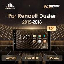 KingBeats штатное головное устройство For Renault Duster 2015-2018 GPS Android 10 автомагнитола на андроид магнитола For Рено Квид For автомобильная мультимедиа Octa ...