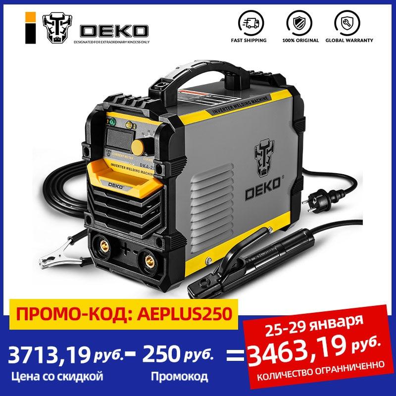 Инвертор DEKO DKA, аппарат для дуговой сварки 220 В БТИЗ, сварка покрытым электродом 120/160/200/250 А, для домашнего пользования, для начинающих