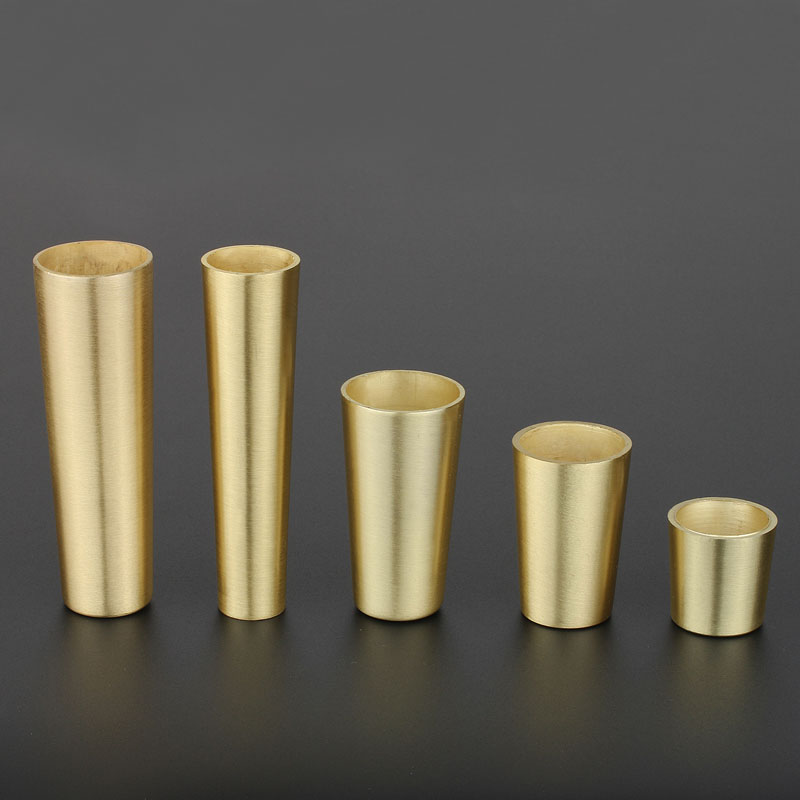 1 Piece Gold Zinc Alloy Cabinet Leg Cover Brass Color Chair Feet Protector Sofa Leg Tube Metal Cup Furniture Leg Ferrules