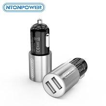 NTONPOWER 2 Port USB araç şarj Qualcomm uyumlu 3A akıllı cep telefonu için iPhone Xiaomi için USB araç şarj cihazı