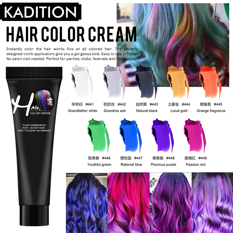 Color  No Irritation Hair DIY Odorless Design Dye Paint Long Lasing Hair Styling Hair Color Cream Hair Multicolor Hair Colorant