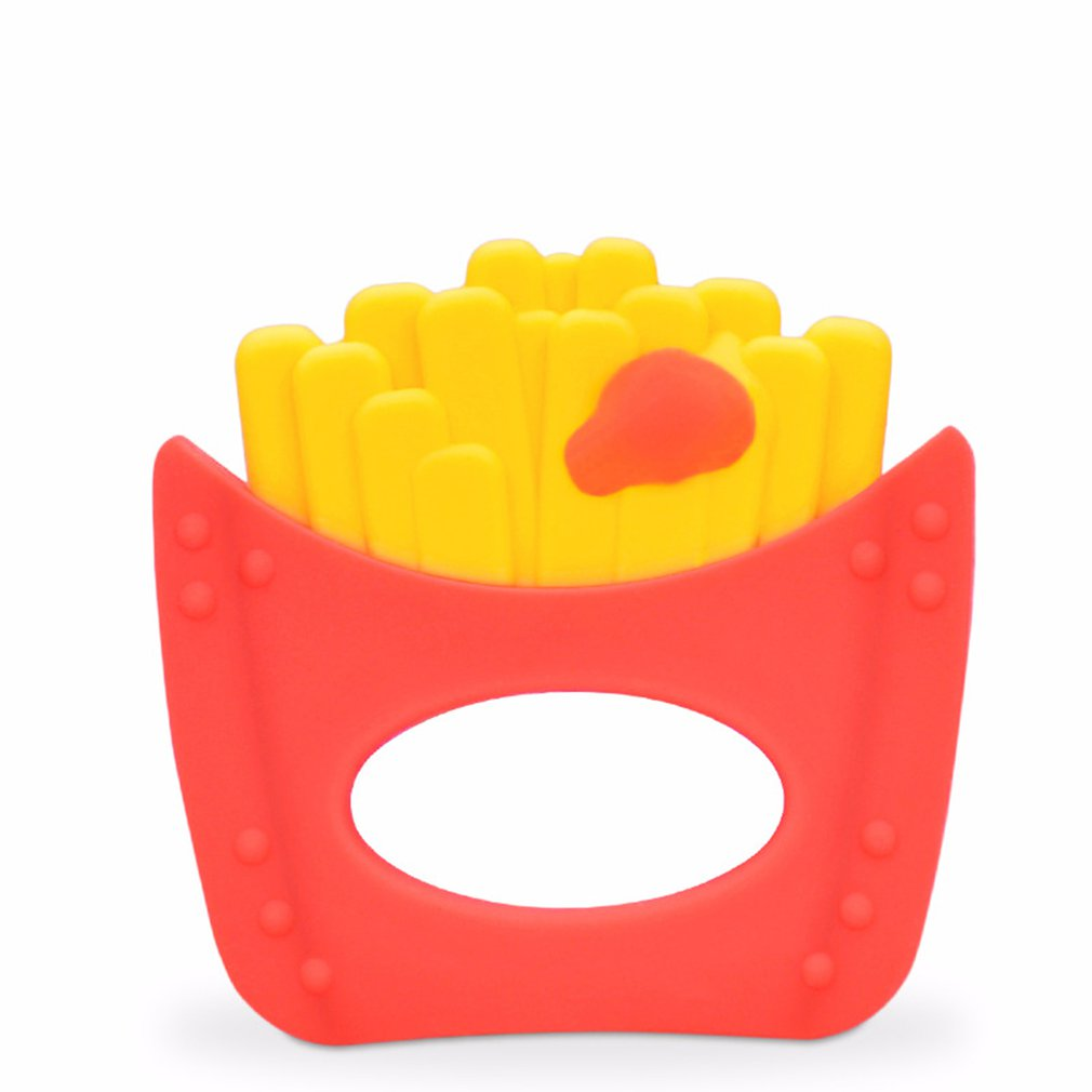 High Quality Baby Teether Soft Silicone French Fries Teething Toy BPA Free Safety Kids Teether Chewing Toys Oral Gum Teeth Care