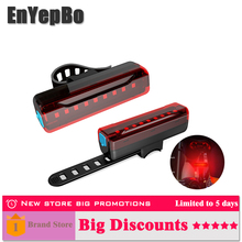 Led bicycle red Waterproof taillight Warning Signal Light 1200 2600mAh With USB Rechargable Safety Night Riding marker lamp