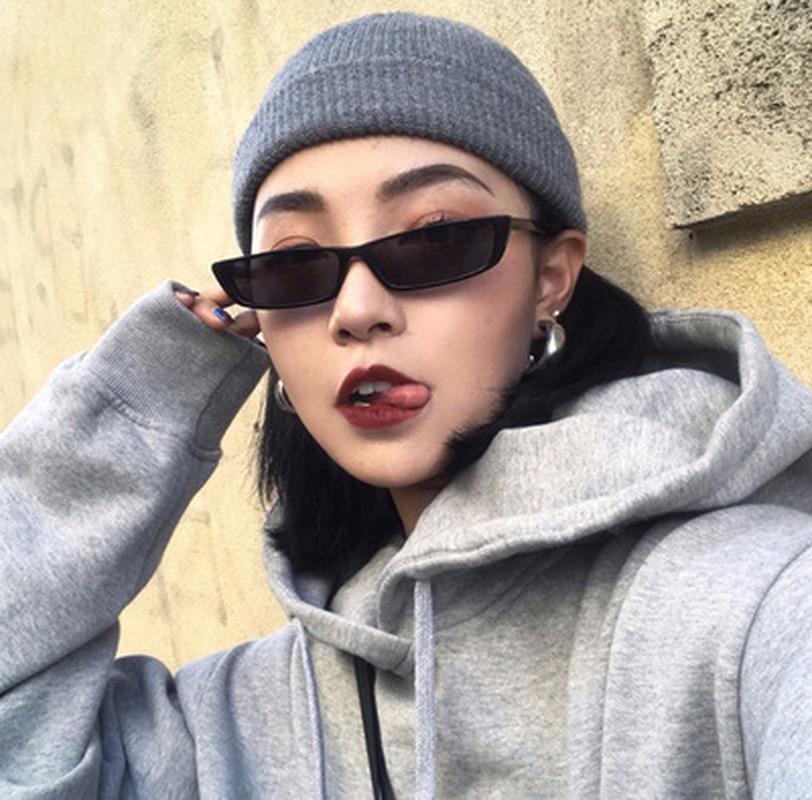 1 PC Vintage Rectangle Sunglasses Women Brand Designer Small Frame Sun Glasses Retro Black Eyewear For Driver Goggles Sunglasses