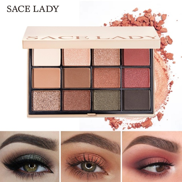 SACE LADY Eyeshadow Palette Makeup Glitter Eye Shadow Pallete Professional Matte Shadow Make Up High Pigment Nude Cosmetic 2