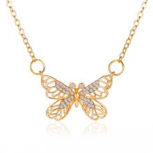 Клен 2000 богемное милое ожерелье с бабочкой ожерелья кулоном