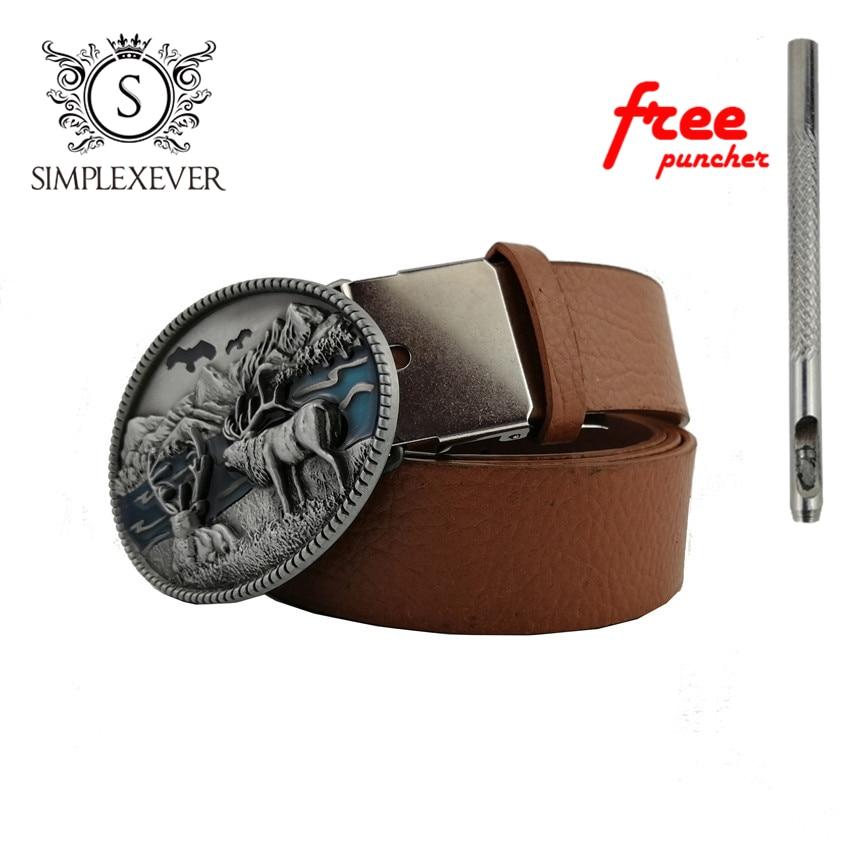Oval Belt Buckle In Silver Plating Metal Men's Belt Buckles for 4cm Wide Belt Men Women Jeans Accessories