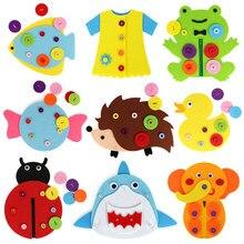 Brinquedos de jardim de infância, diy, pano, arte, brinquedos de crescimento, montessori, botão de aprendizagem, zíper, ensino manual de brinquedos