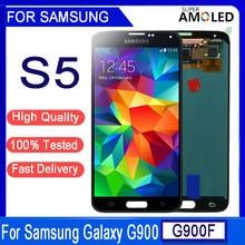 Original 5.1 amamamoled para samsung galaxy s5 g900 g900f g900h g900m lcd screen display toque digitador assembléia substituição