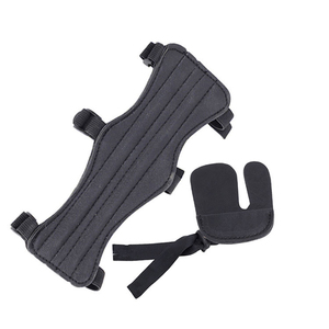 1Pcs Arm Guard with Finger Protector with 3 Strap PU Leather Archery Arm Guard Protection Safe Guard outdoor Protective Gear