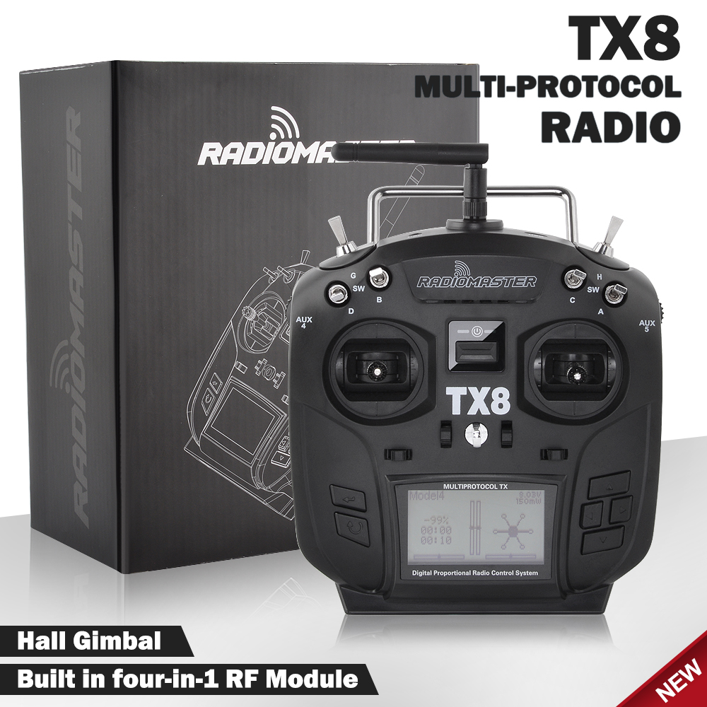 New RadioMaster TX8 2.4G 12CH Hall Gimbal Transmitter Multi-Protocol RC Remote Controller For FPV Racing Drone RC Parts