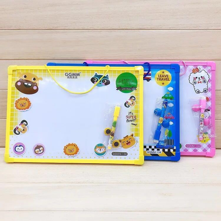 Korean-style Creative Cute Wipable Doodle Board Double-Sided Board Children Practice Doing Homework Coloured Drawing Board Kinde