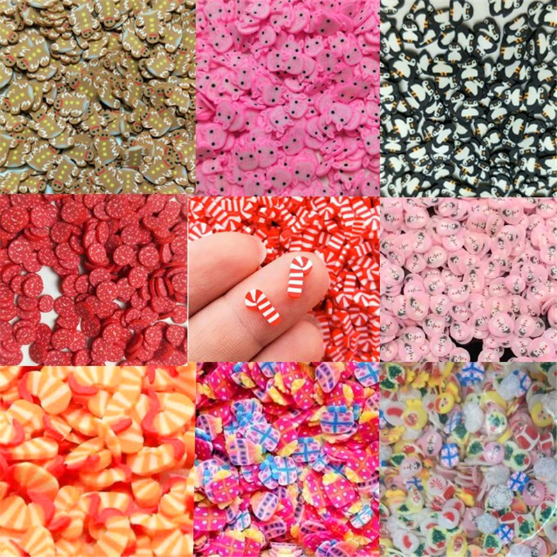 20g Soft Pottery Addition Soft Fimo Cartoon Slices For Slime Fluffy DIY Nail Mobile Supplies Slime Accessories Kits For Children