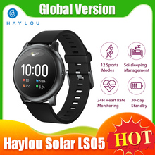 """Haylou Solar Global Version LS05 Smart Watch Men Sport Heart Rate Sleep Monitor IP68 Waterproof 1.28"""" Smartwatch for iOS Android"""