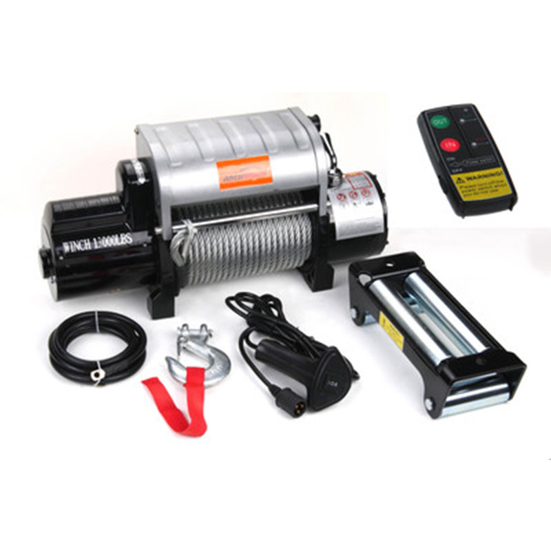 Aluminum Control Box Integrated 12v/24v 13000 Pound Off-road Winch With Wireless Remote Control