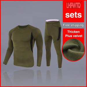 Thermal-Underwear-Sets Leggings-Set Long-Johns Winter Men Thick for Russian-Canada And