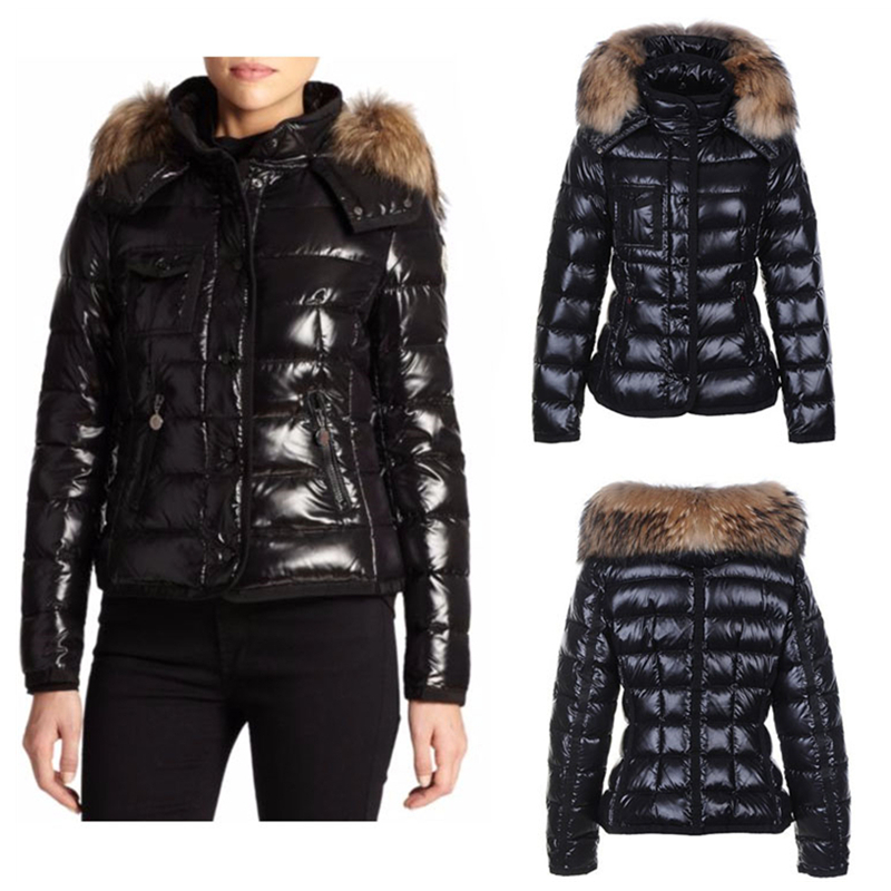 High Quality Canadian Down Coat For Women Winter Warm Down Coat Fur Hood  Pocket Zipper Thick Fur Collar Down Jacket