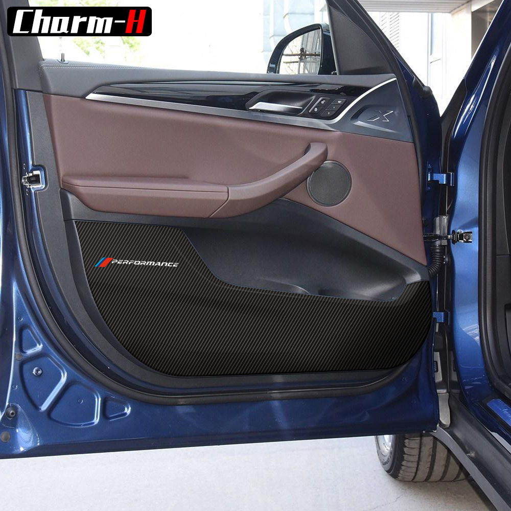 5D Carbon Fiber Door Anti kick pad Sticker Door Protection Side Edge Film Protector for <font><b>BMW</b></font> <font><b>X3</b></font> G01 <font><b>2018</b></font> Cay Styling <font><b>Accessories</b></font> image