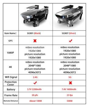 ZWN SG907 SG901 GPS Drone with Wifi FPV 1080P 4K HD Dual Camera Optical Flow RC Quadcopter Follow Me Mini Dron VS SG106 E502S 1