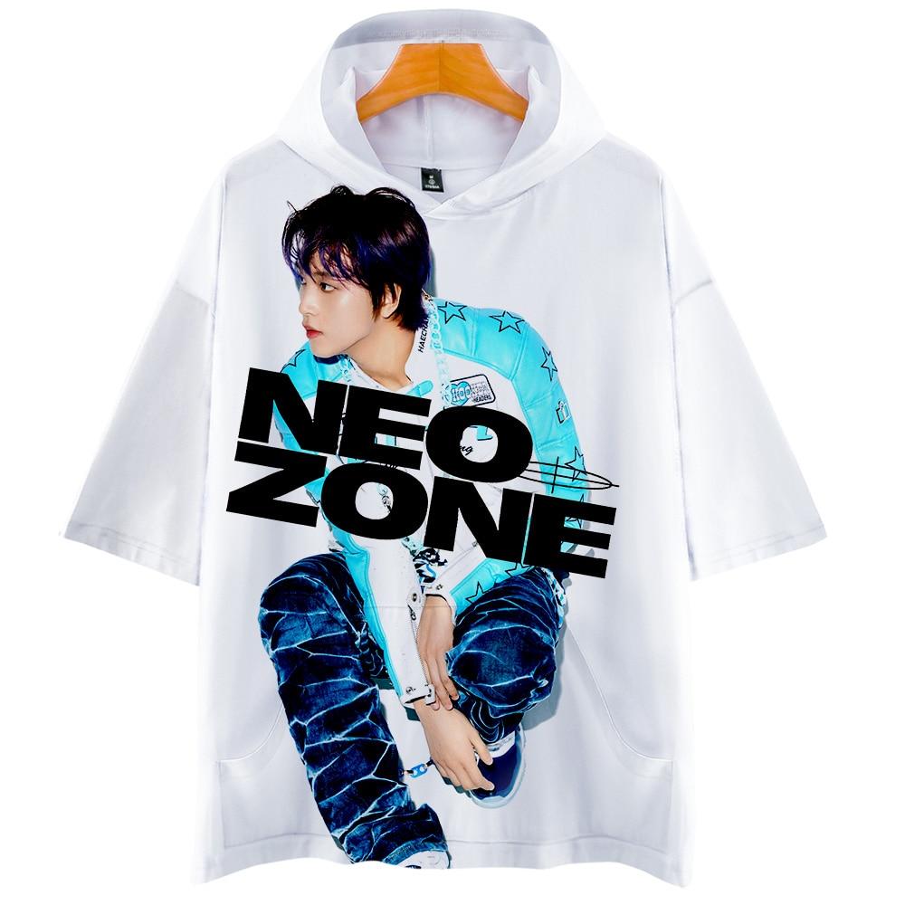 Nct 127 футболка мужская с капюшоном футболки летние с коротким рукавом Женская Harajuku Повседневная Уличная одежда Neo Zone финальная круглая