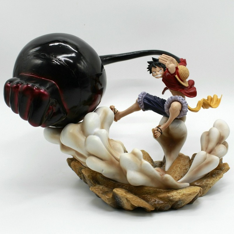 Us 34 92 34 Off Anime One Piece Monkey D Luffy Gear 3 Anime Figure 17cm Gk Luffy Gear Third Pvc Action Figure Collection Model Toys In Action Toy